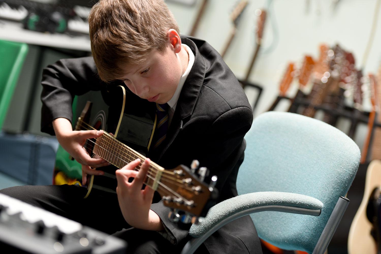 Playing Guitar chords