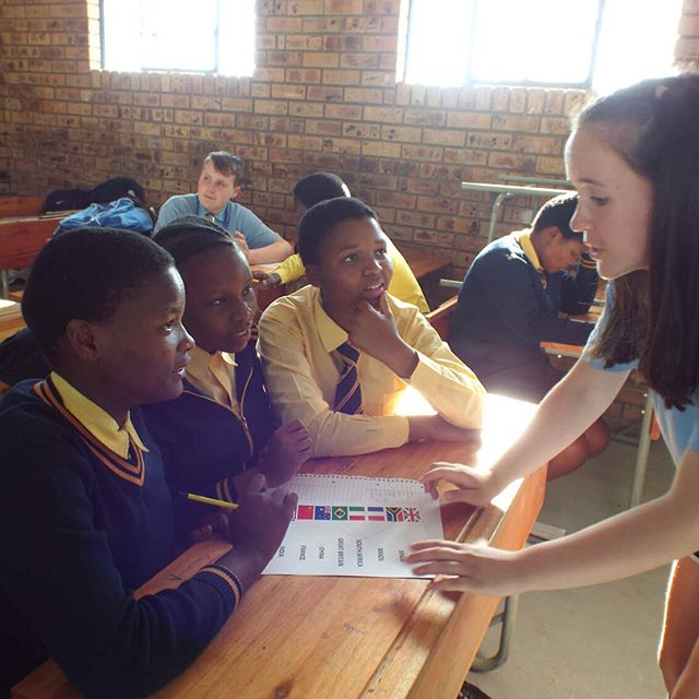 Libby in Mnyakanya High School, South Africa 2018
