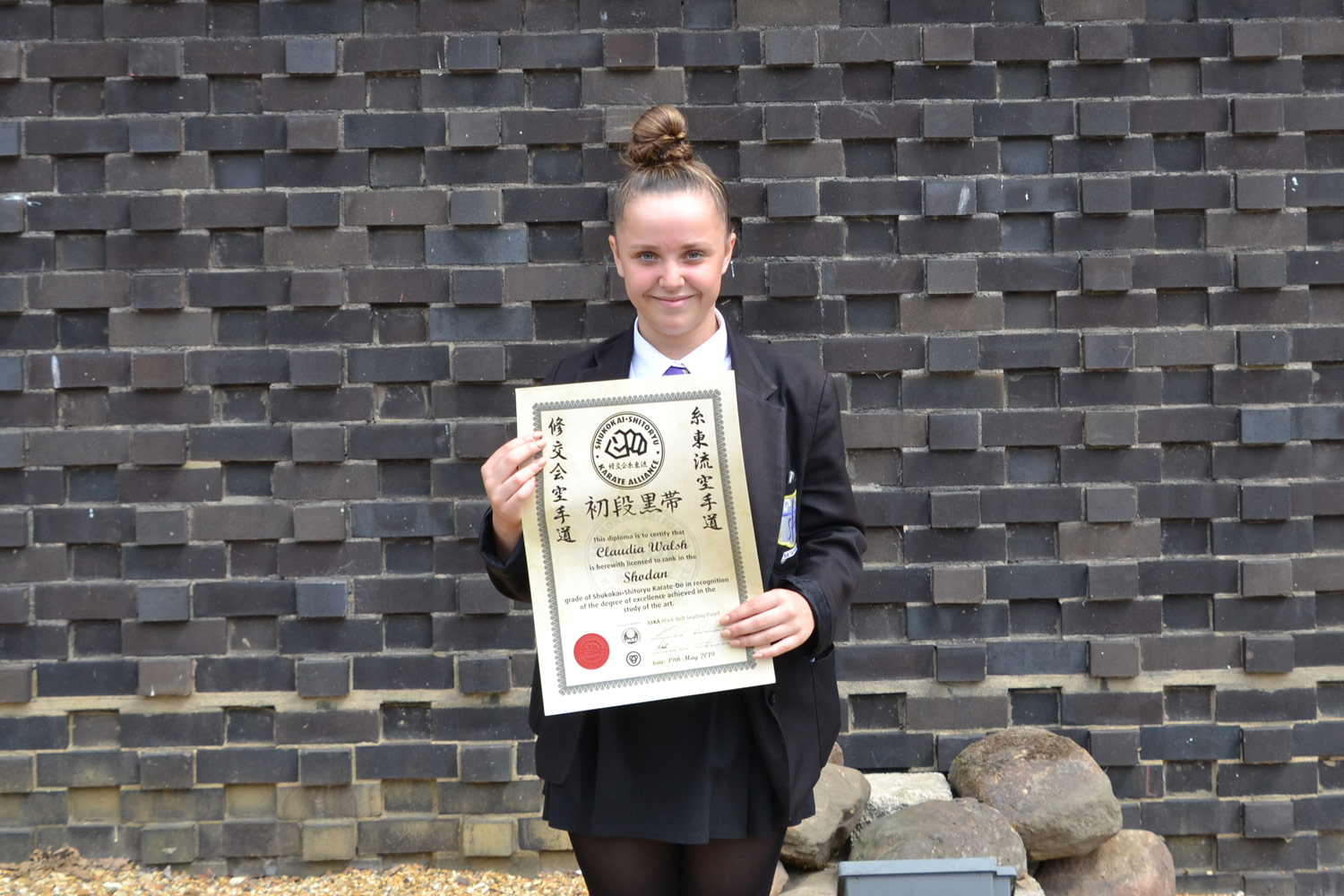 Well done Claudia – a fantastic achievement!