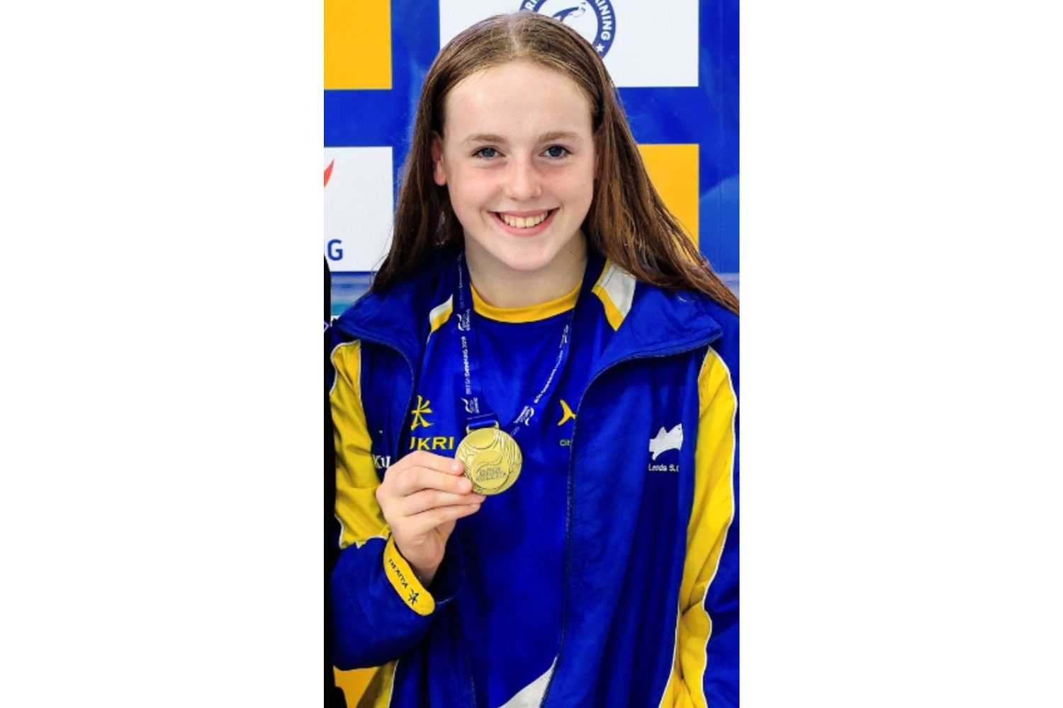 Photo: Izzy Goodwin with one of her medals
