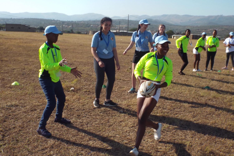 Rugby activity at Mnyakanya High School