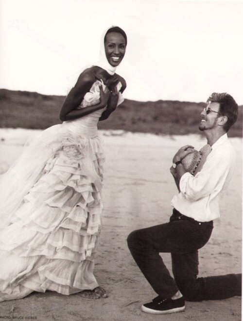 annasheffield :     Love eternal //    David Bowie and Iman
