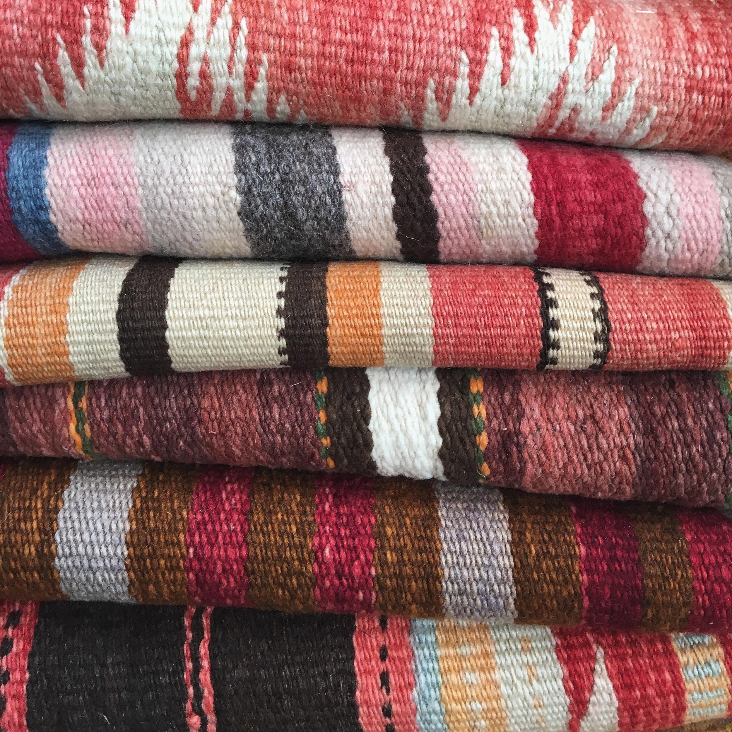 Shiprock, Santa Fe. Old Navajo blankets