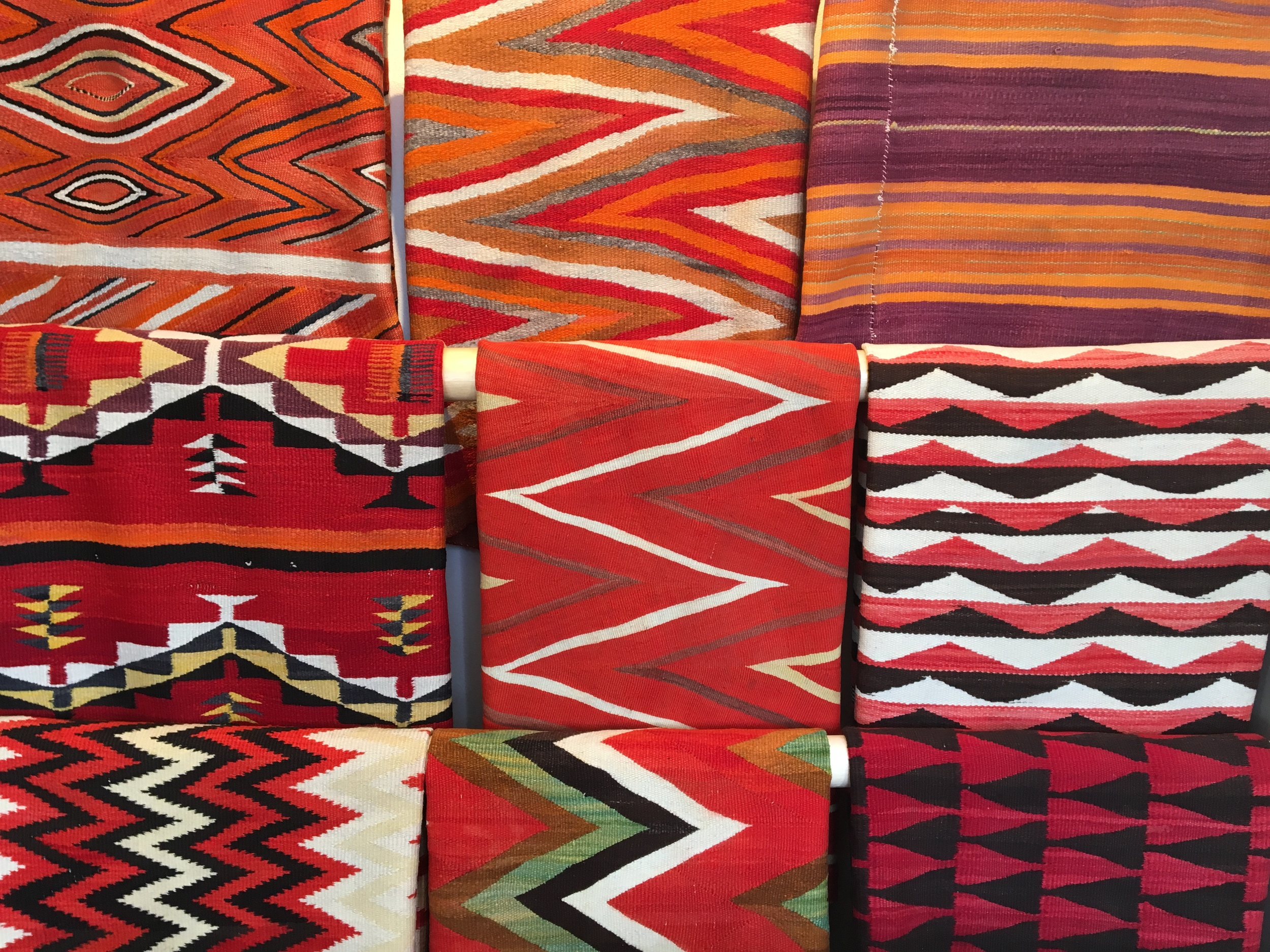 More blankets. Shiprock, Santa Fe