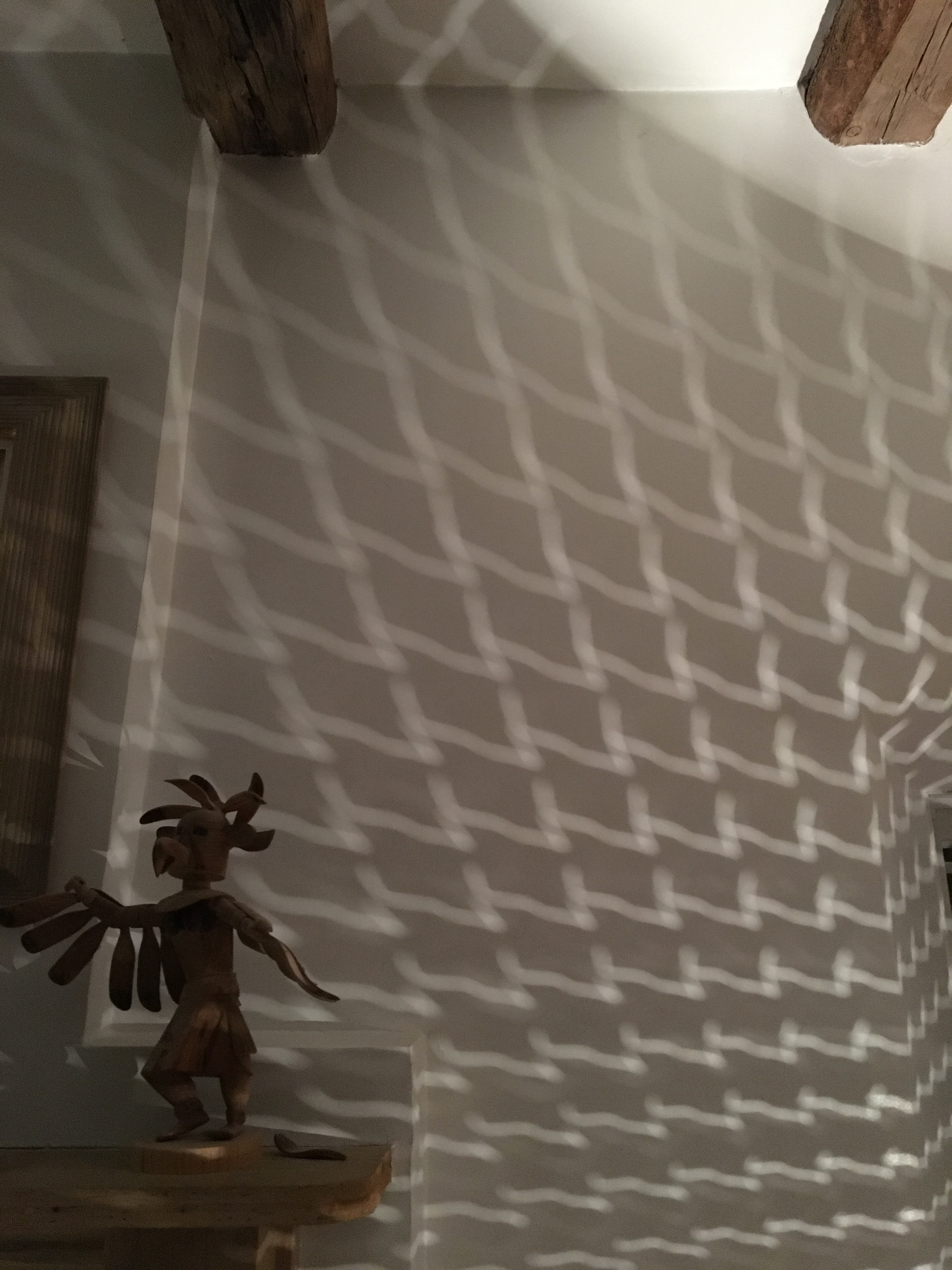 Katchina shadow dancing at the house