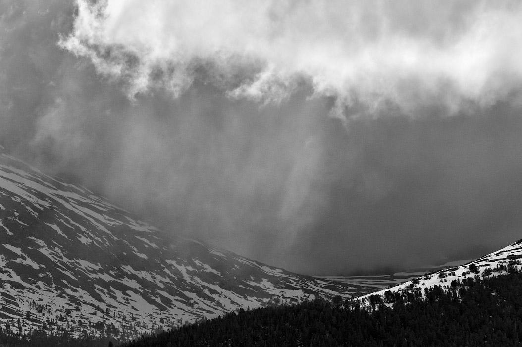summer storm in Yosemite