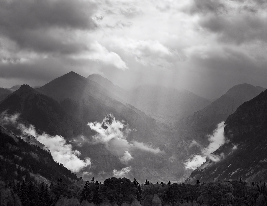 clearing storm, telluride