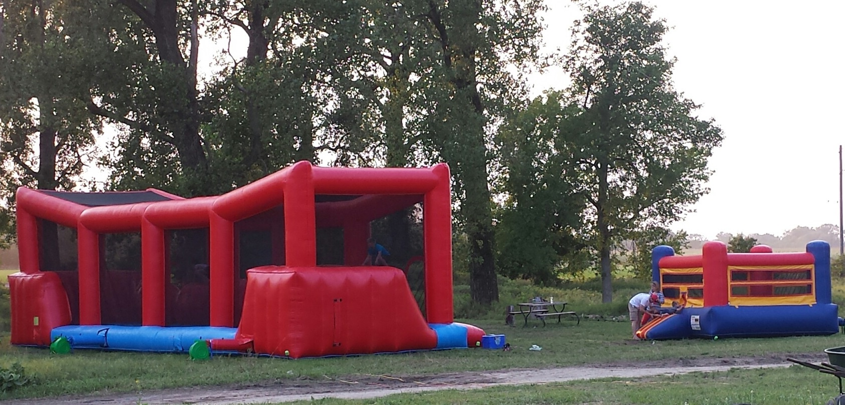 Plenty of room to set up bounce houses for the kids