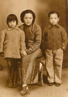 Joann's mother, grandmother, and maternal uncle in Macau.