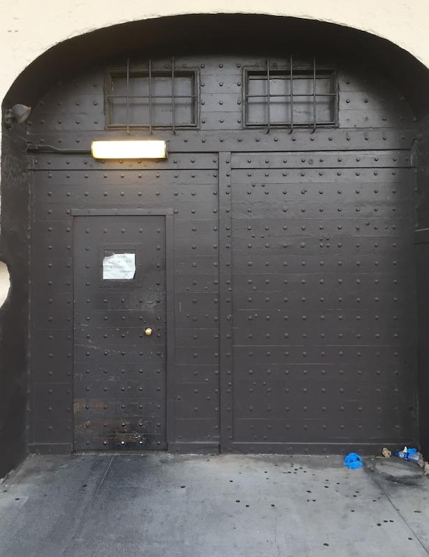 Exit door.