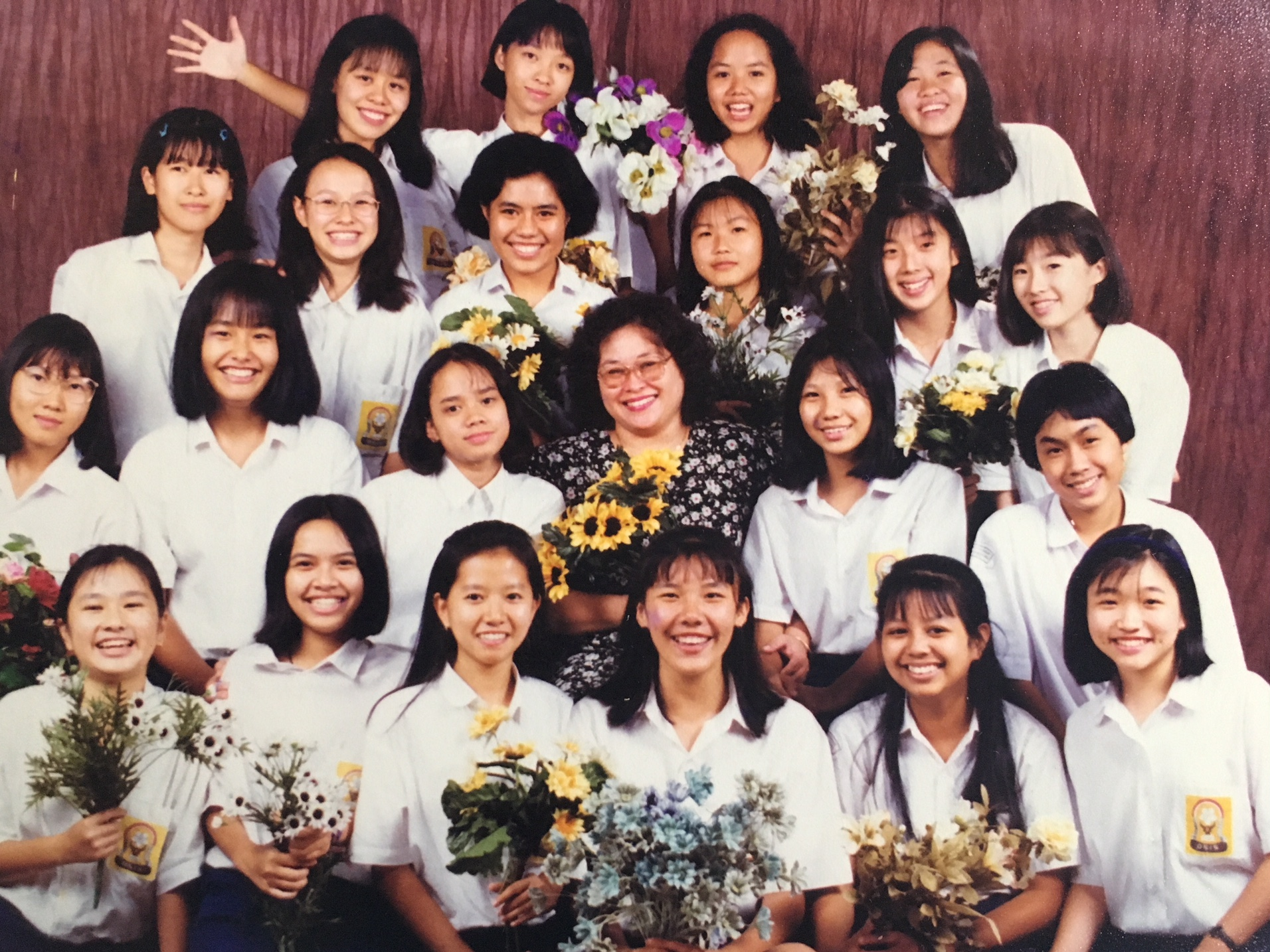 Junior high. Nani is in the second row up, far right.