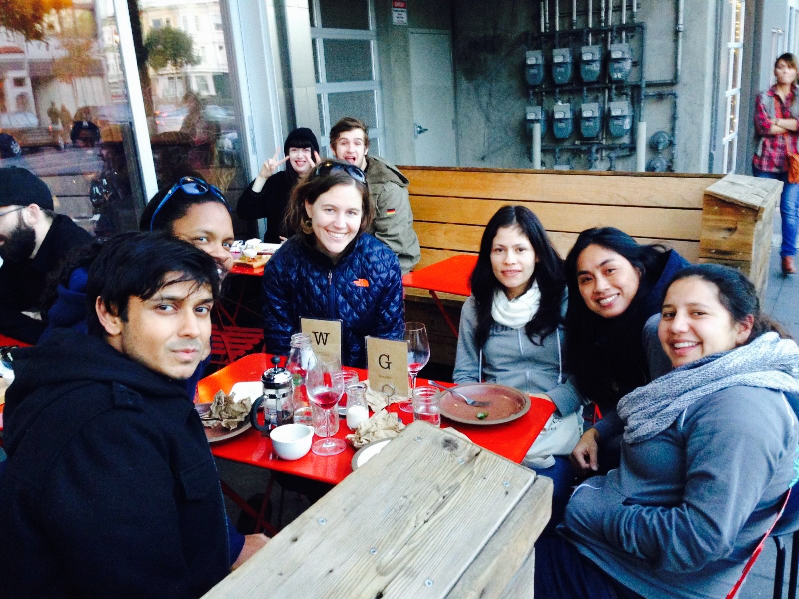 With friends in San Francisco.