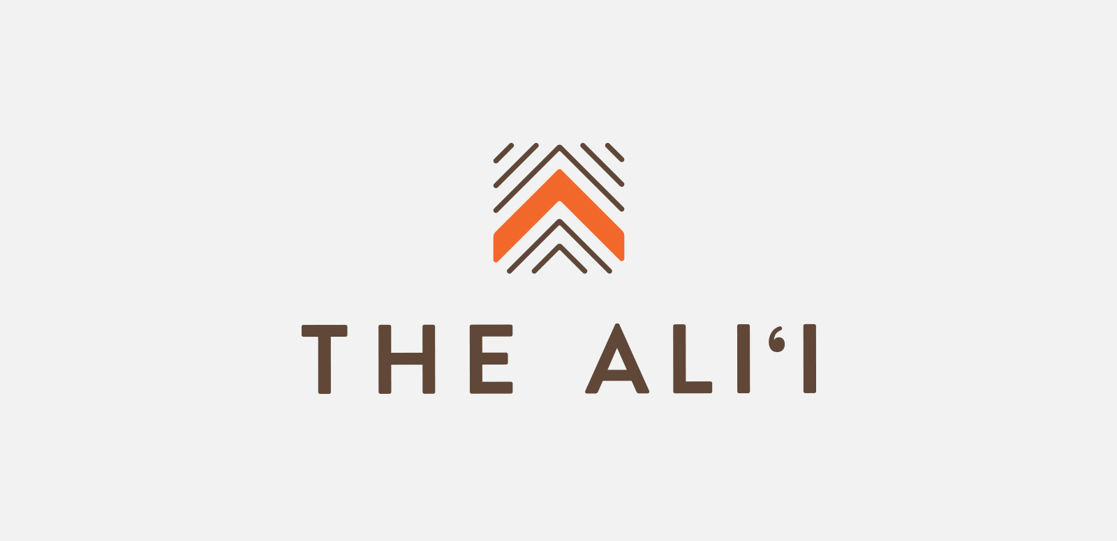 THE ALII  Logo for an elevated resort experience at Hilton Hawaiian Village. Done at MVNP, 2016.