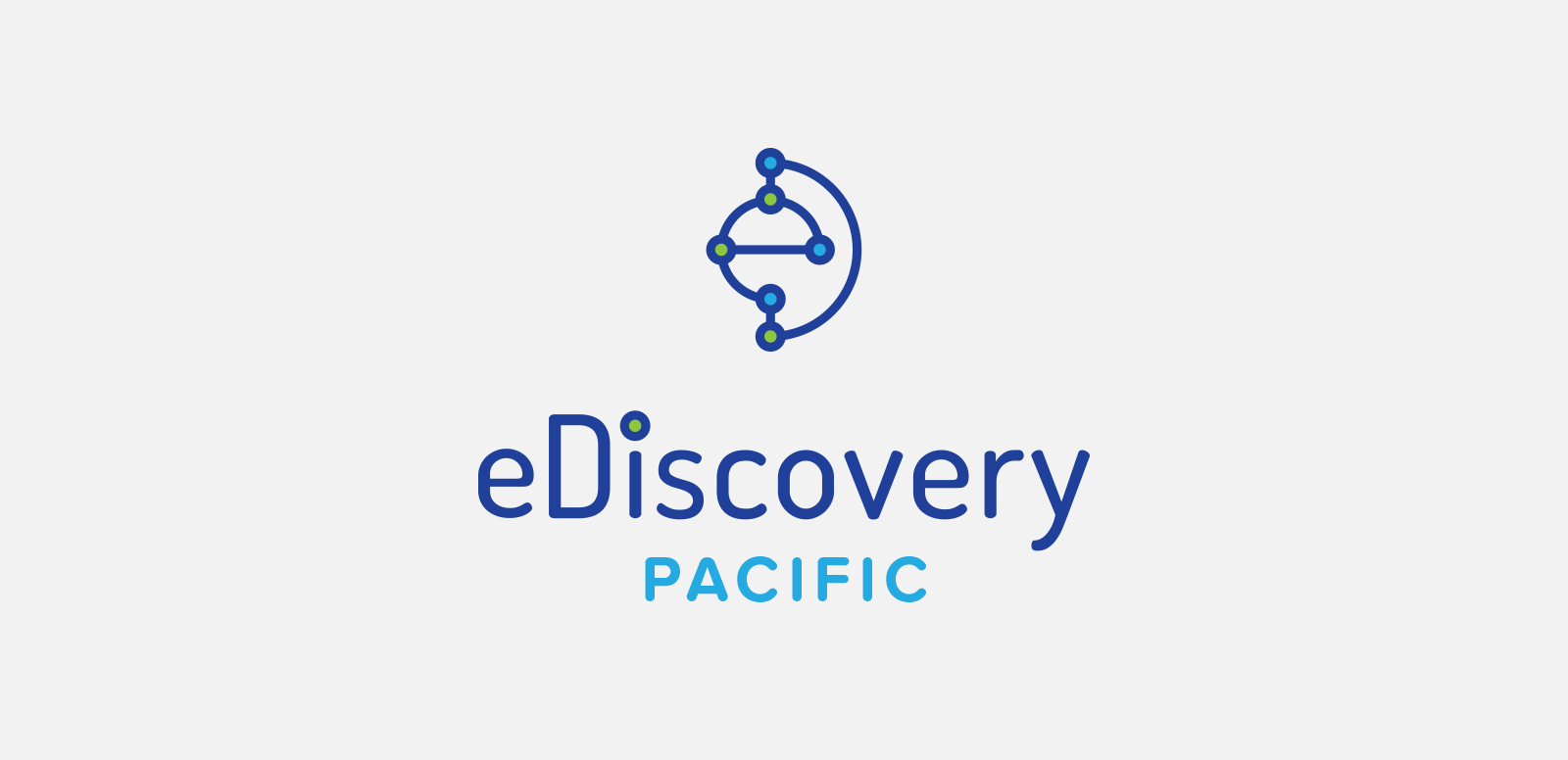 eDISCOVERY PACIFIC  Logo concept for a local digital forensics agency. Done at Design Asylum, 2015.