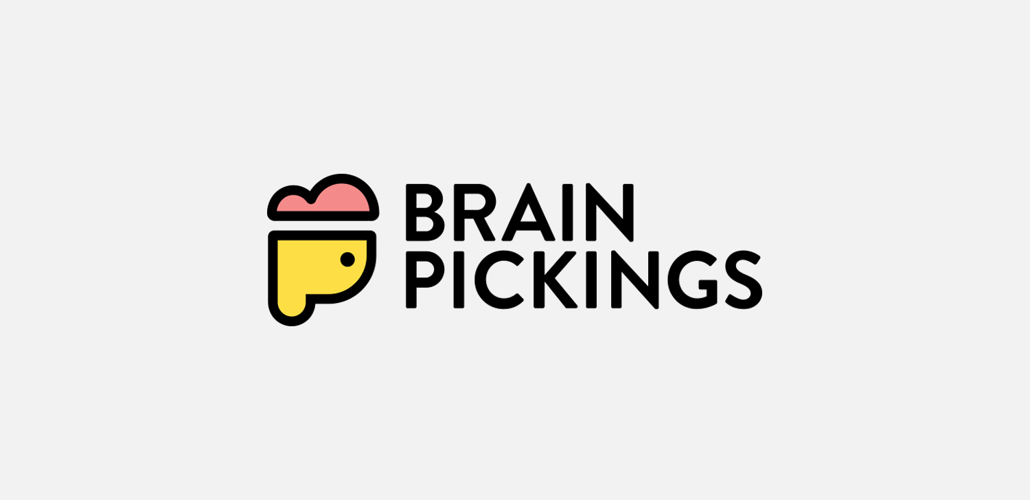 BRAIN PICKINGS  Logo concept for one of my favorite blogs. For funsies, 2015.