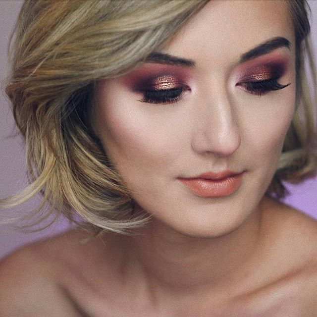 super rich super deep super warm purple tones all up on alissa's eyes 🙇🏼♀️