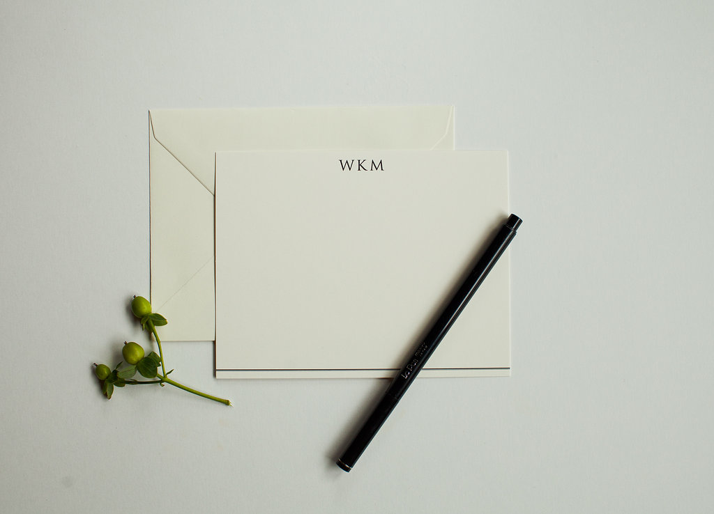 Men's Monogrammed Personalized Stationery