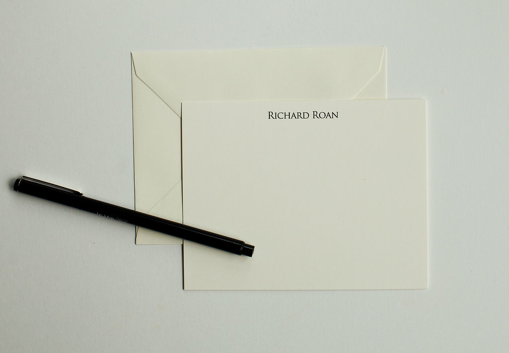Men's Classic Personalized Stationery