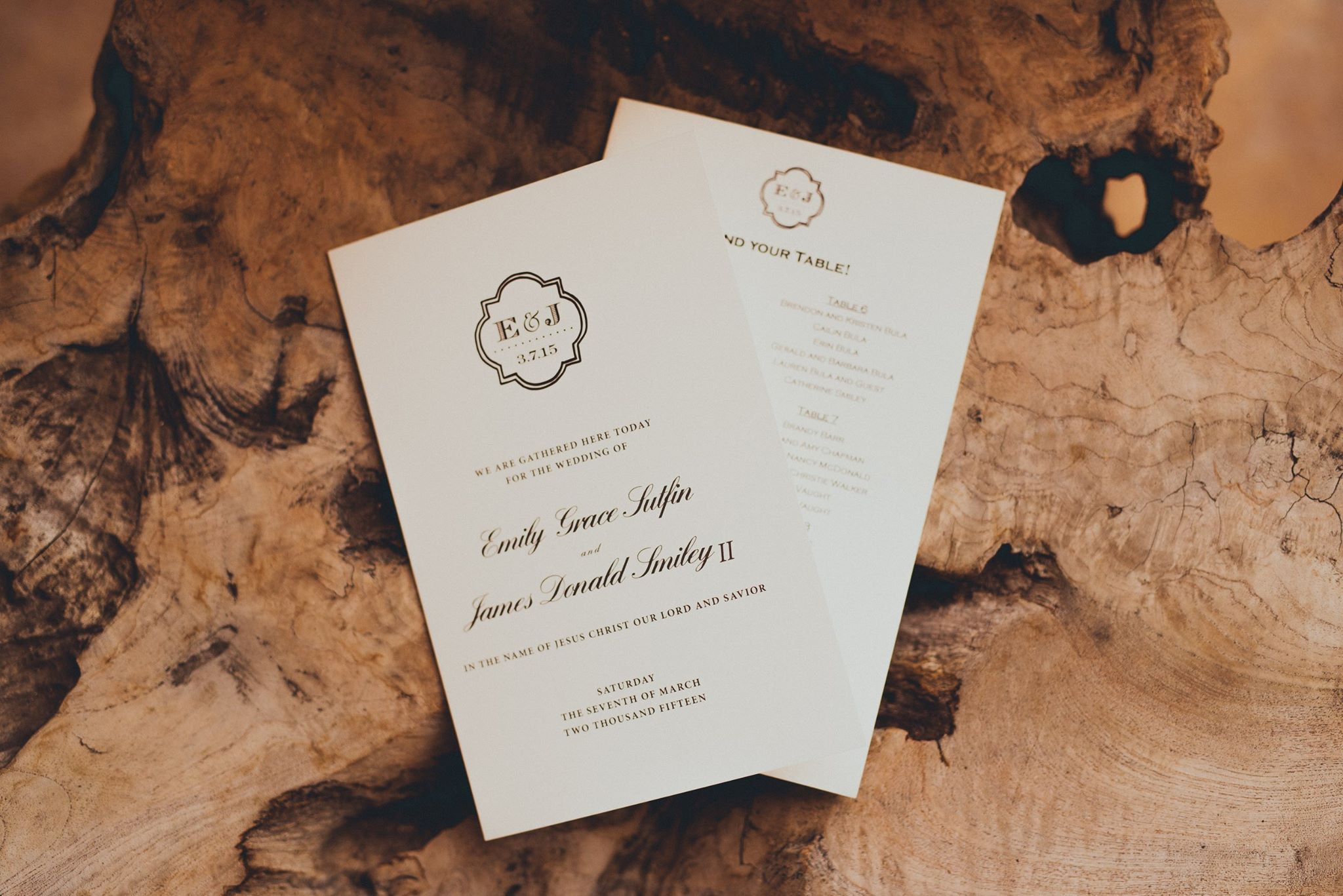 Wedding Programs  Photo by  Grant Daniels Photography