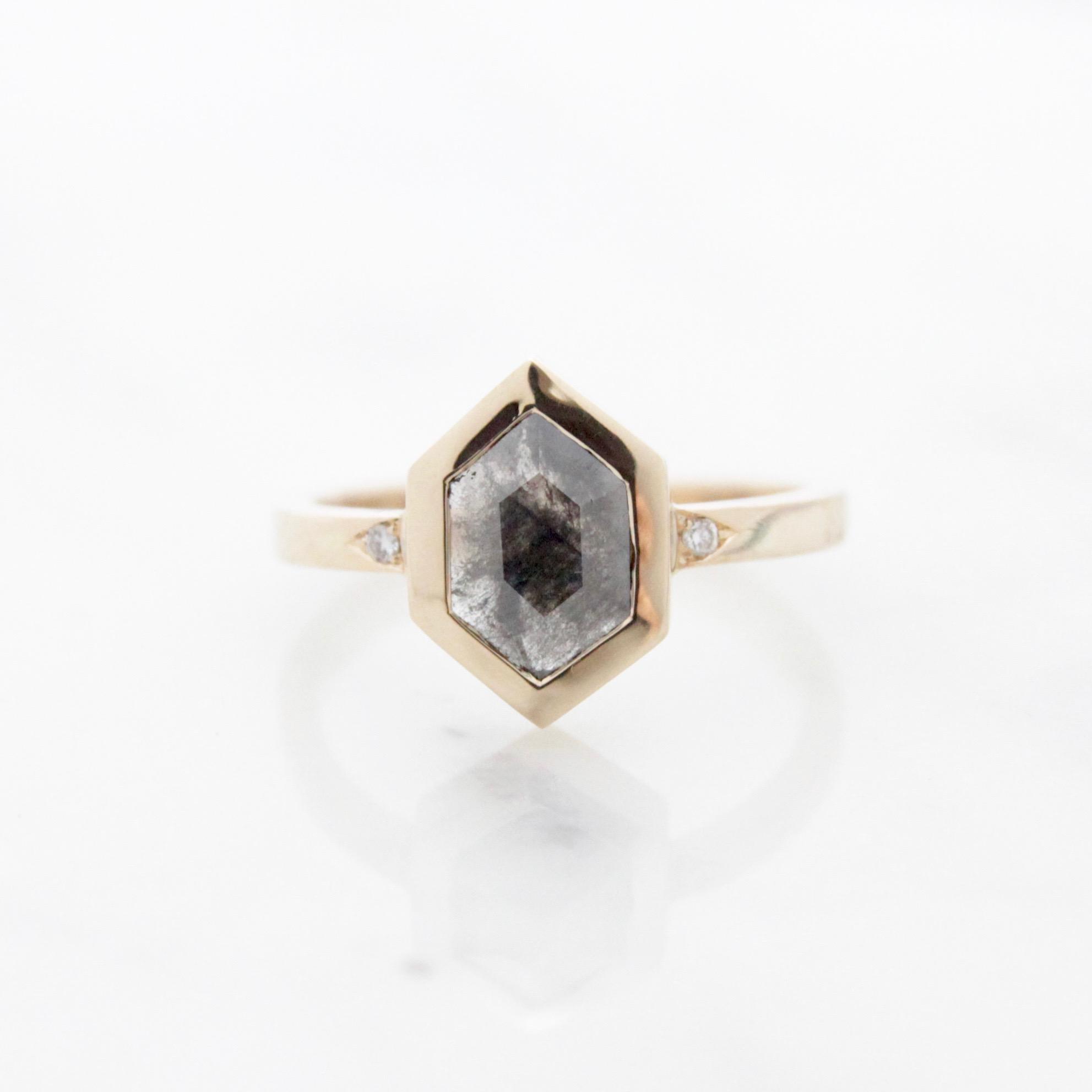 Custom. natural grey and black hexagon diamond.jpg