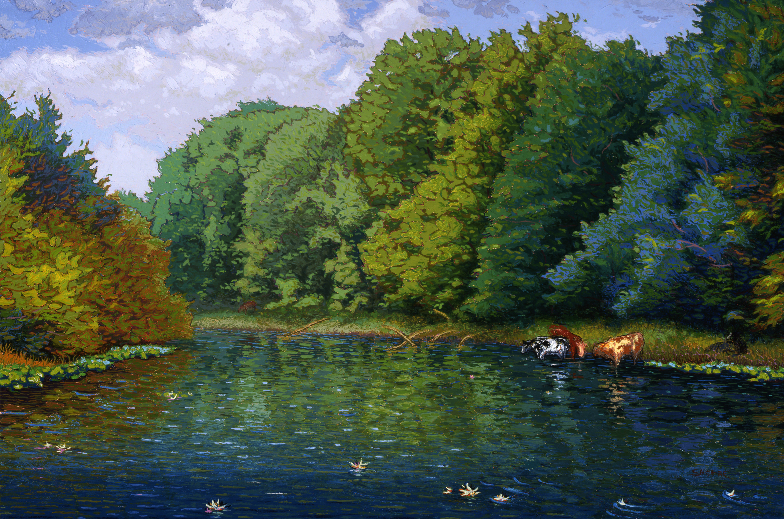 """Watering Bovines  