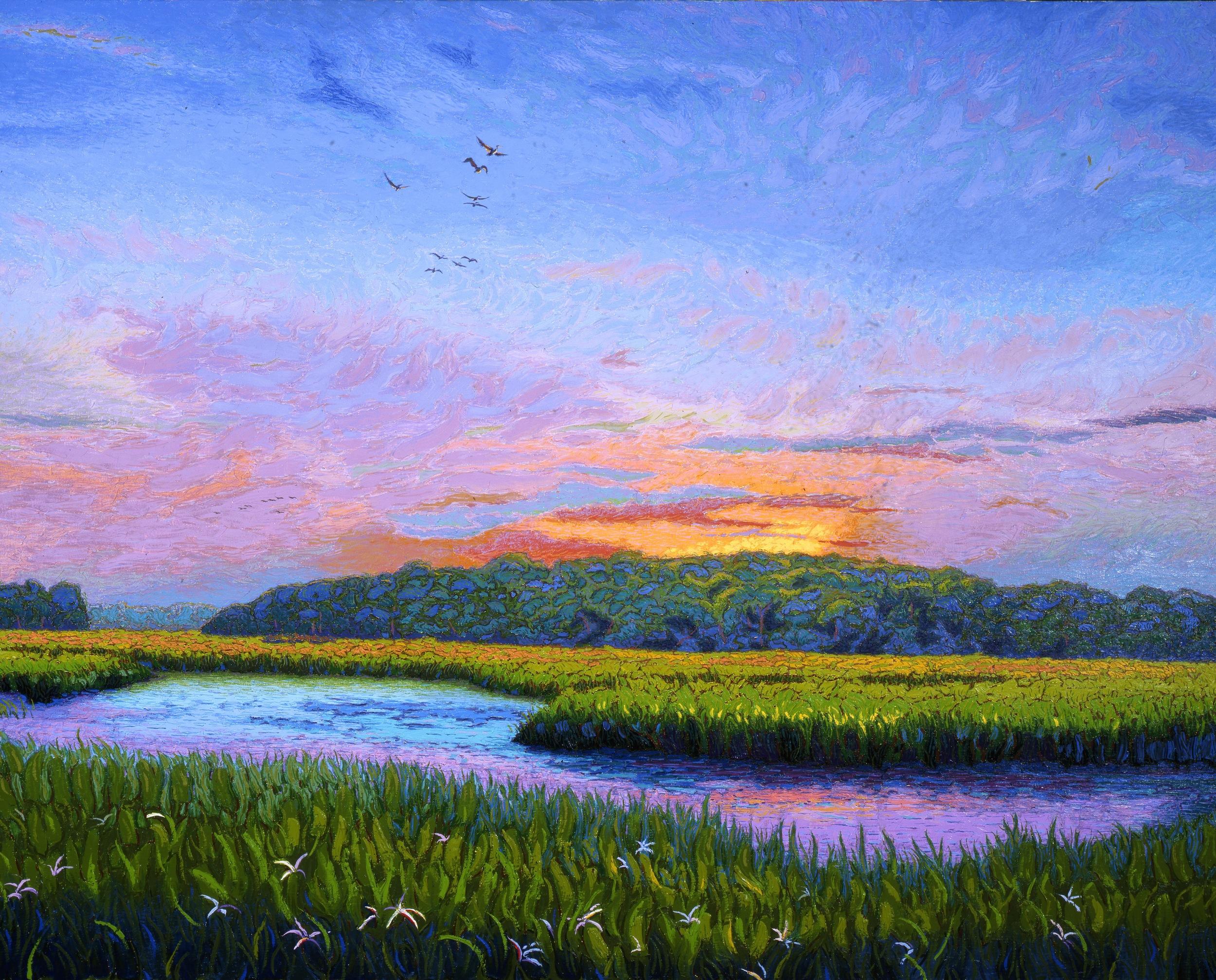 "Estuary at Dawn  |  32x50""  |  Oil on Canvas"
