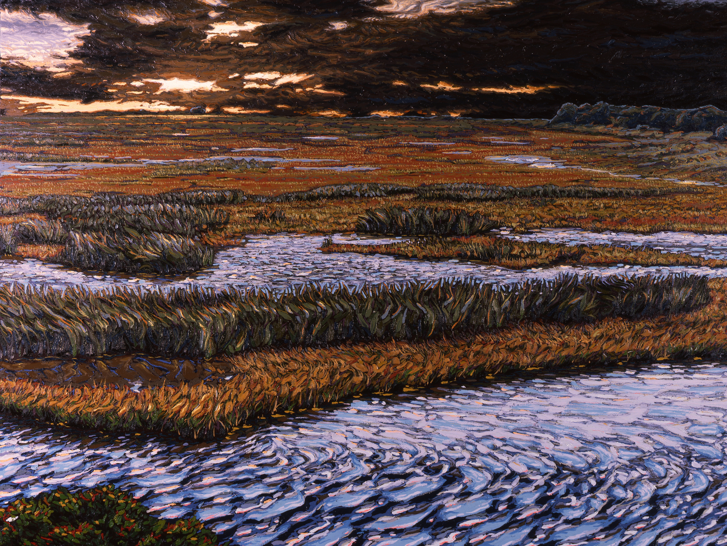"""Evening Grasses  