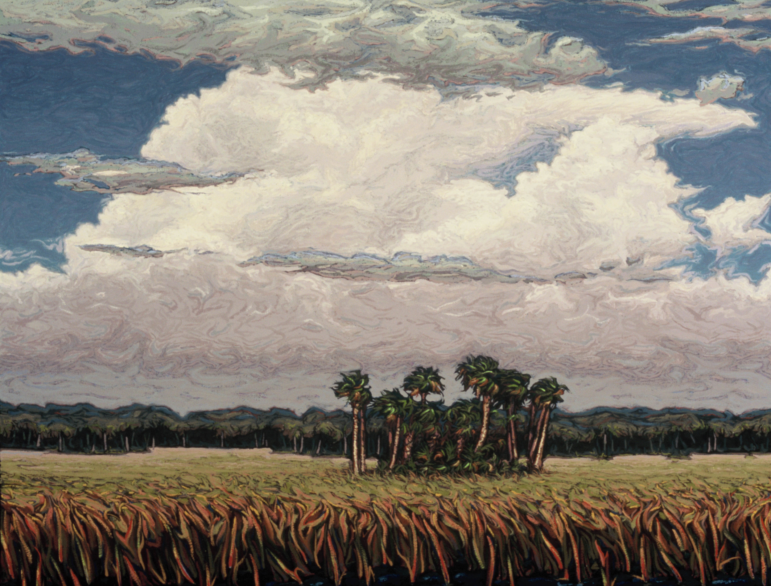 "Marsh Island Hammock  |  30x40""  |  Oil on Canvas"