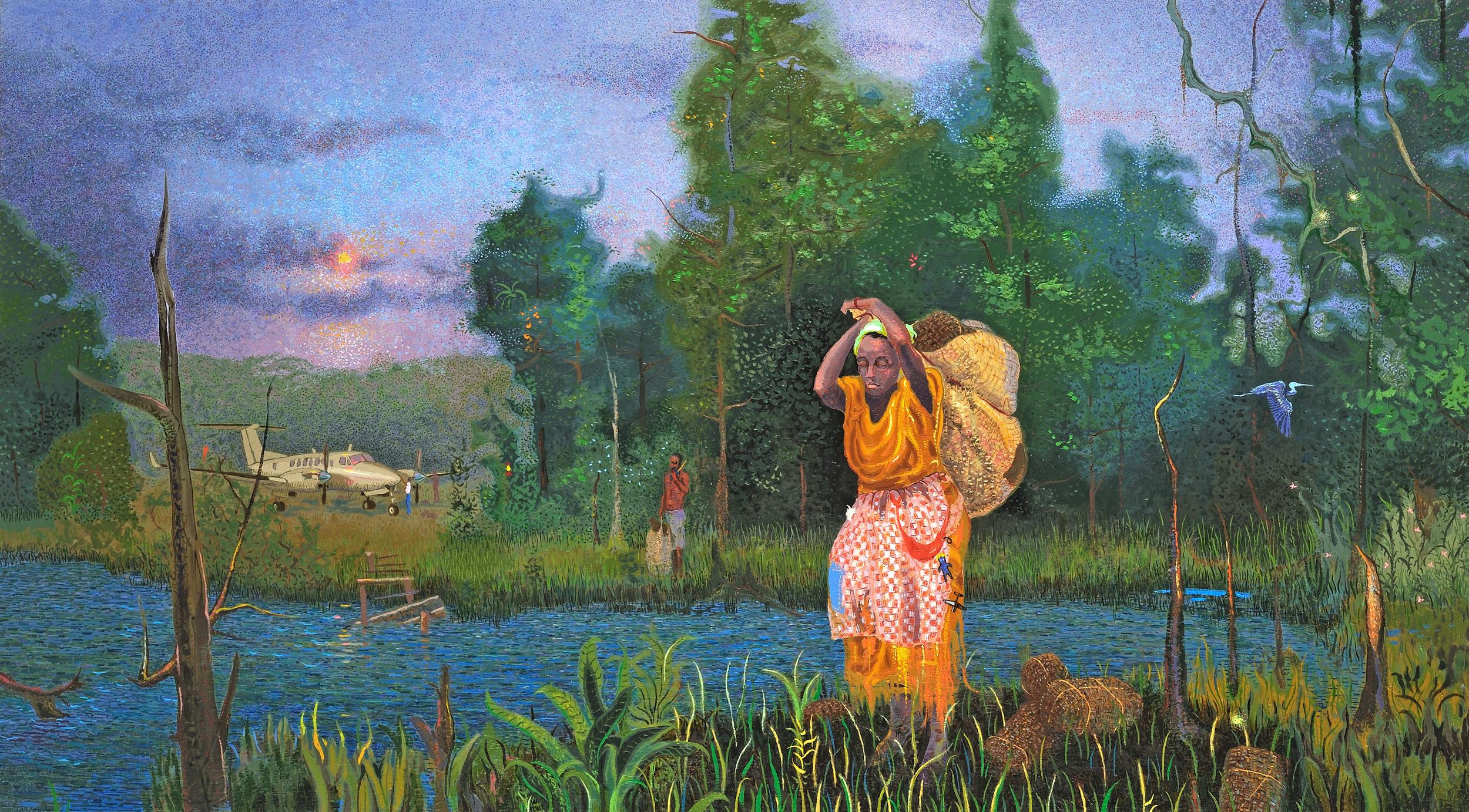 "JuJu Landing  |  20x36""  |  Oil on Canvas"