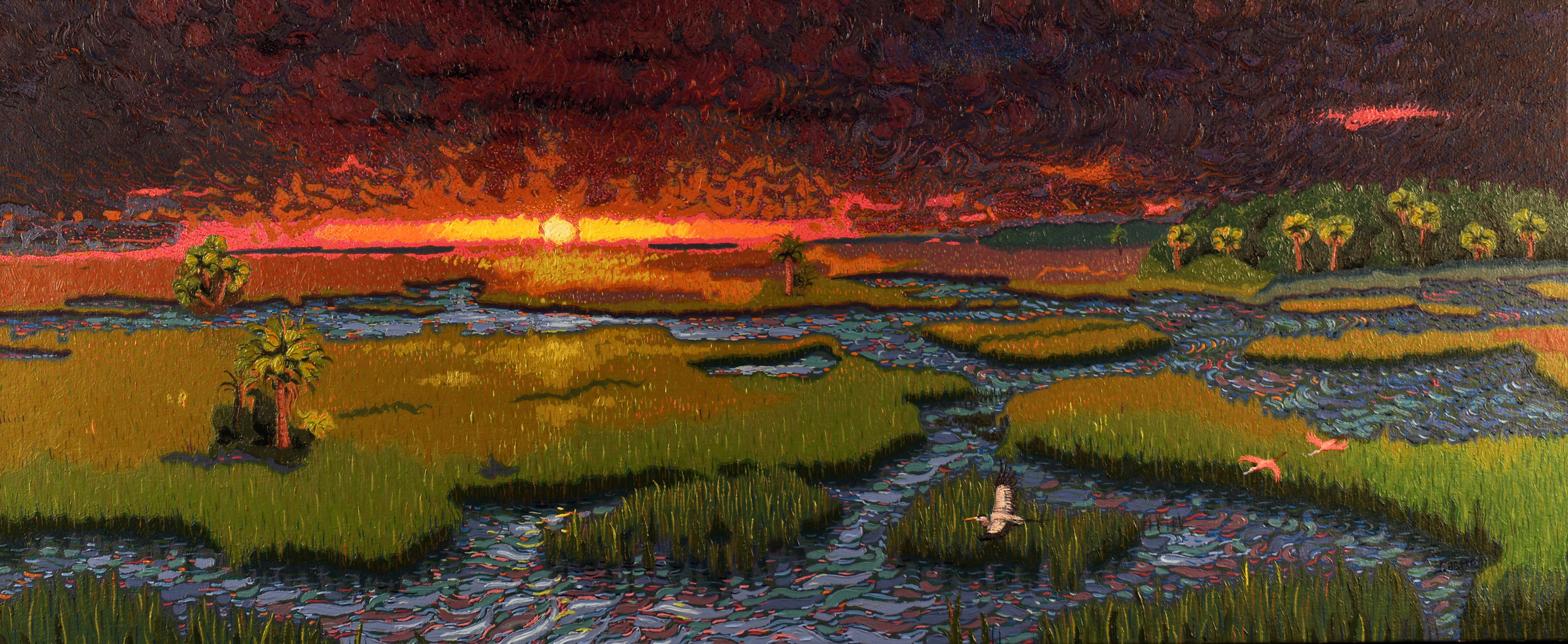 """Glowing Tidal Waters  