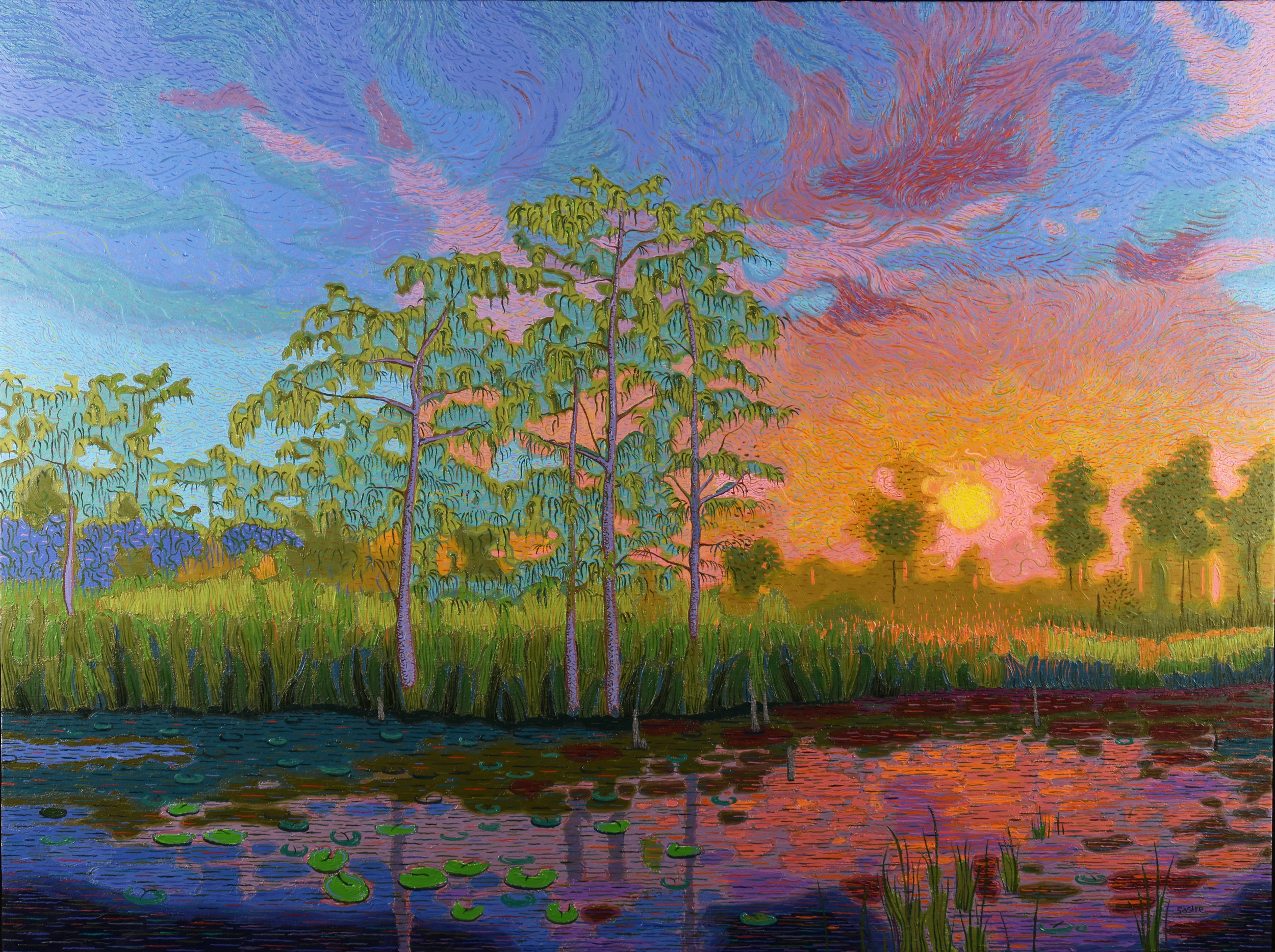 """Cypress Sunset  