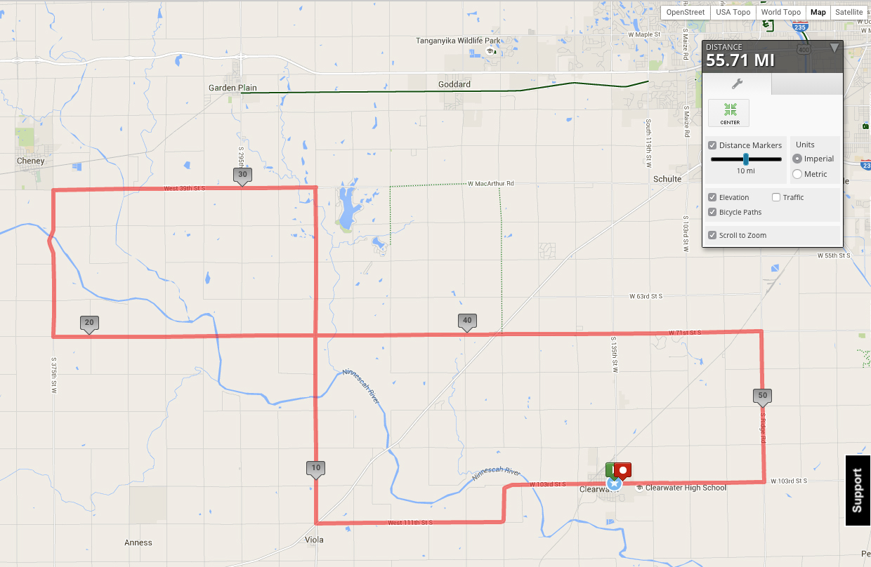 heathers ride 50 mile route