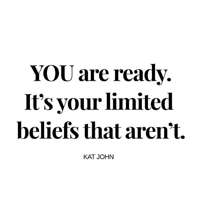 The egoic you will never be ready. But your spirit is!  #kjfreedom #beyondlimits #selfmastery