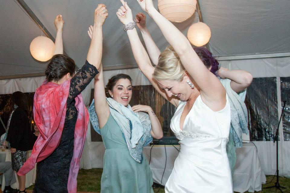 Heather rose scarves 3 peeps at wedding.jpg