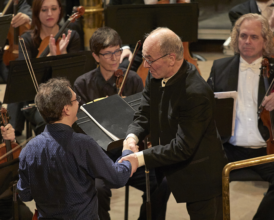 A2_MG_9879  Aaron Berofsky and Arie Lipsky sharing congrats at end of Shostakovich .jpg
