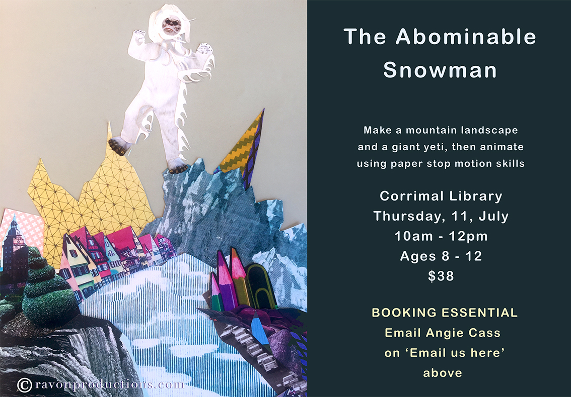 The Abominable Snowman stop motion workshop