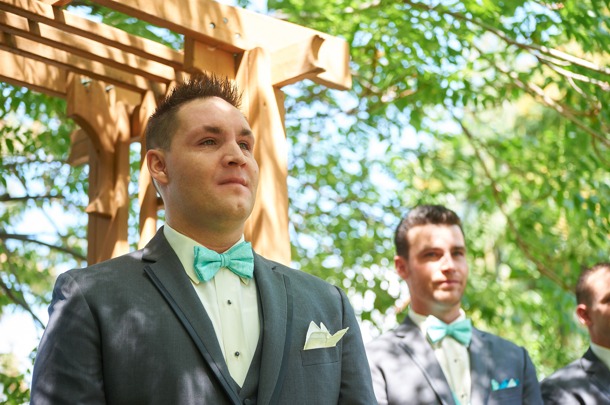The groom's anticipation