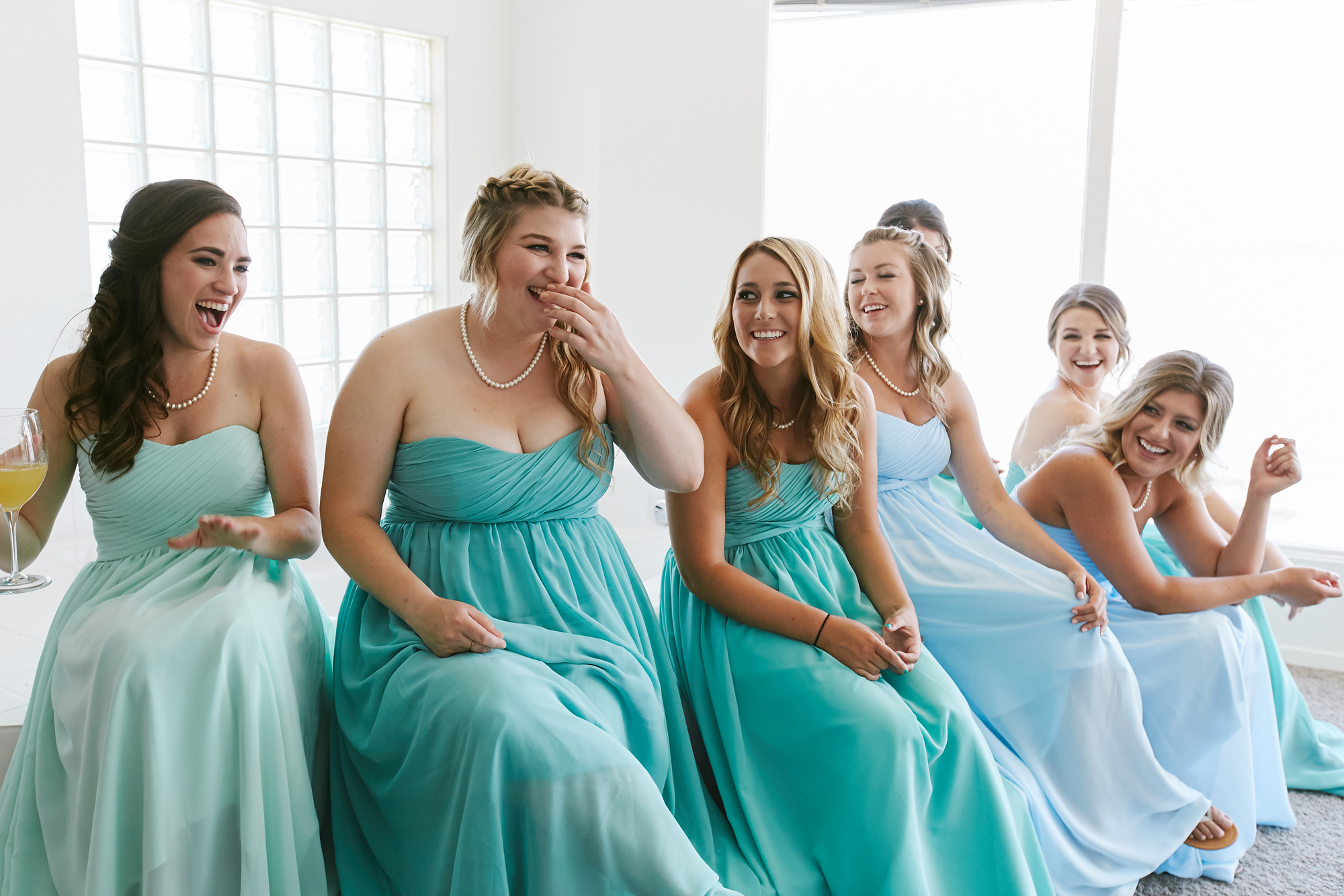 group of bridemaids