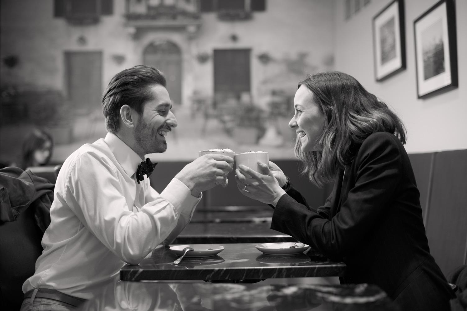 Engaged couple photo session