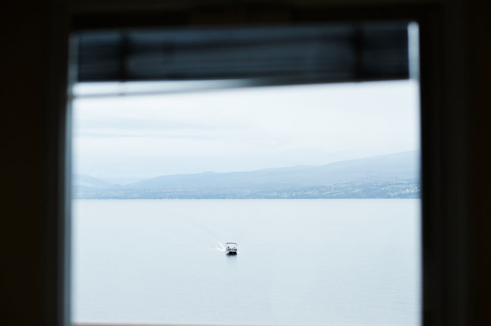 boat on okanagan lake