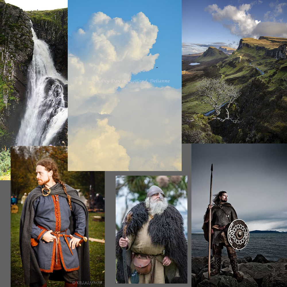 """Mood and reference board for """"Eirik's Fall""""."""