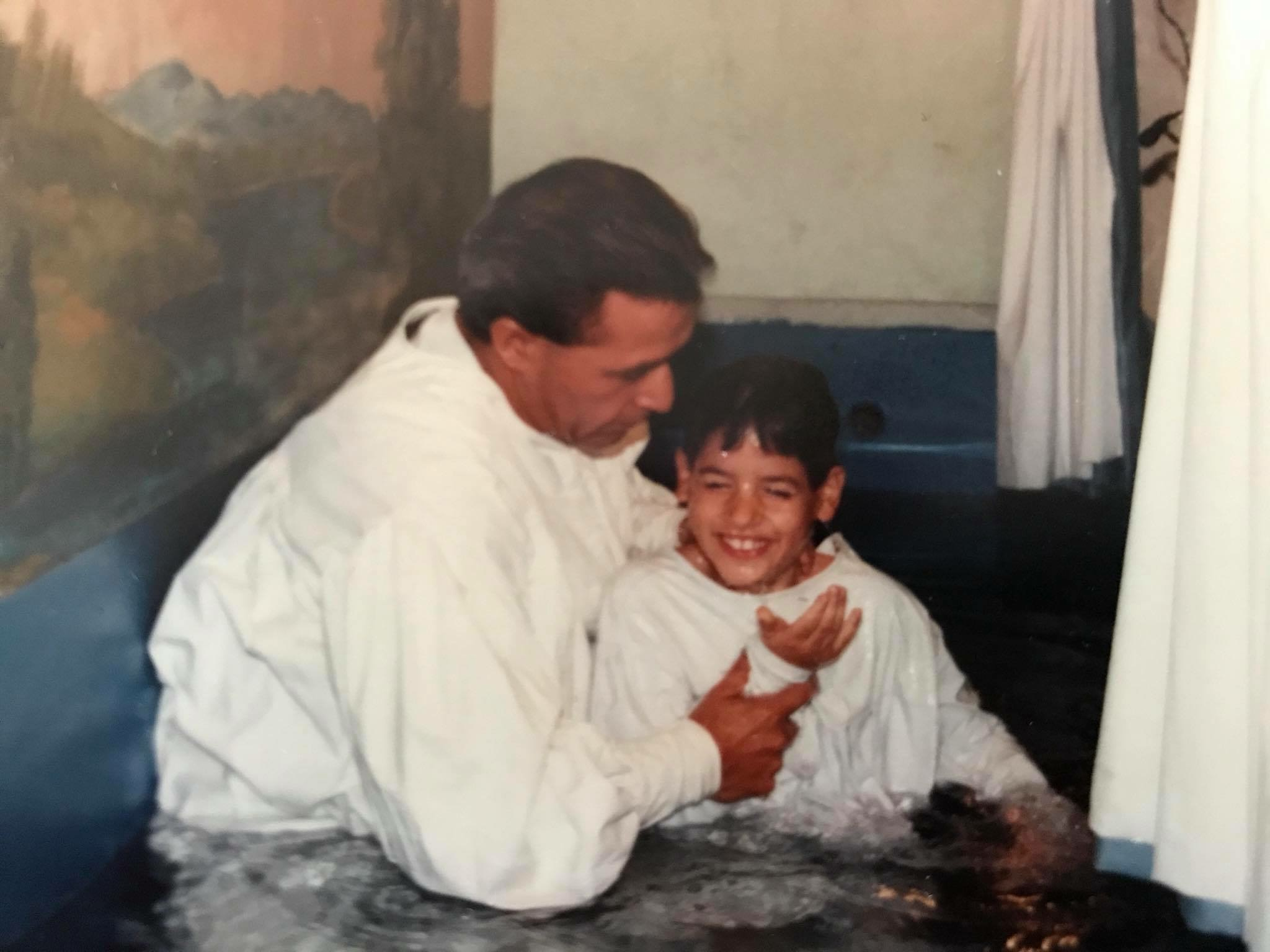 I was baptized into Christianity at the age of 7.