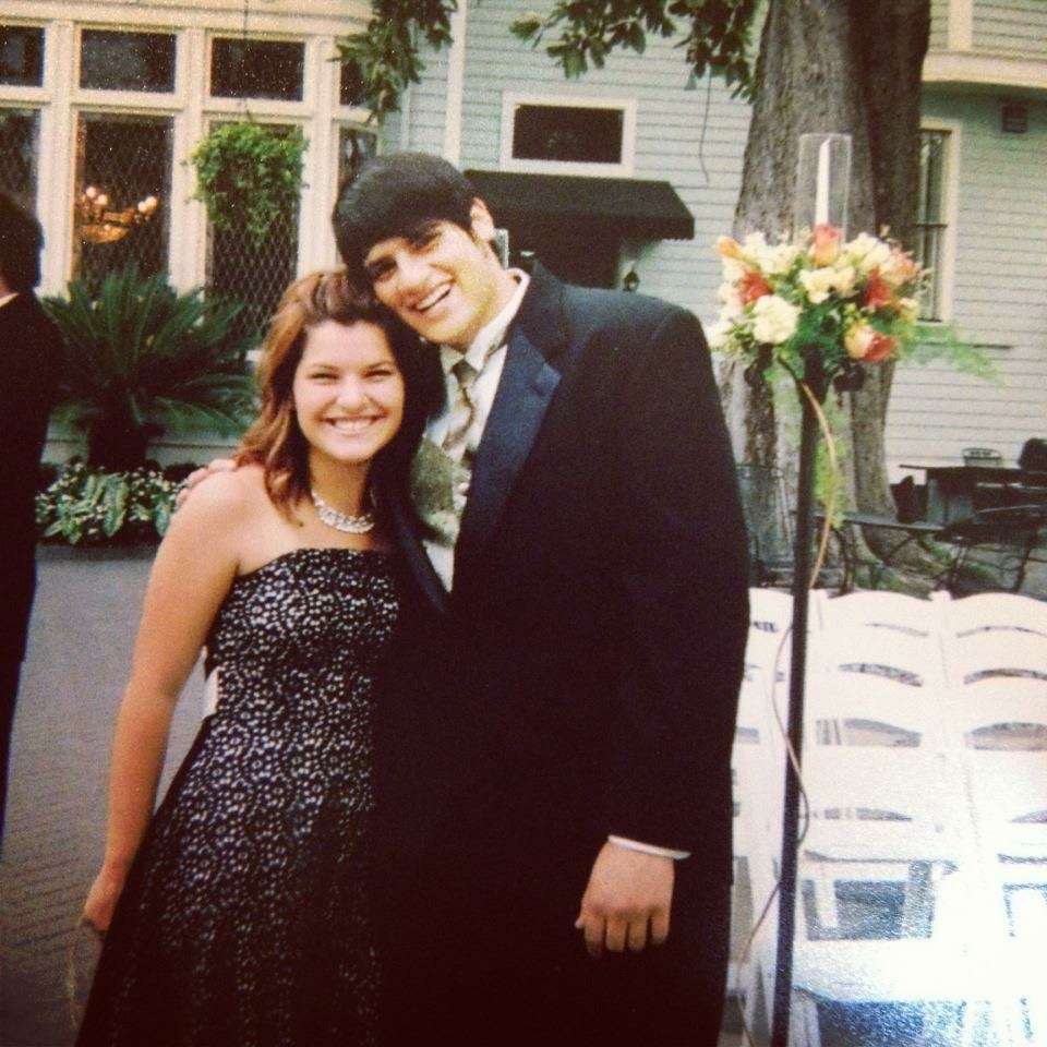 The first official date with my now wife at my older brother's wedding.