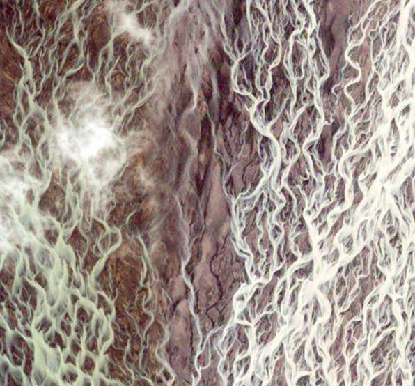 Iceland, google satellite image