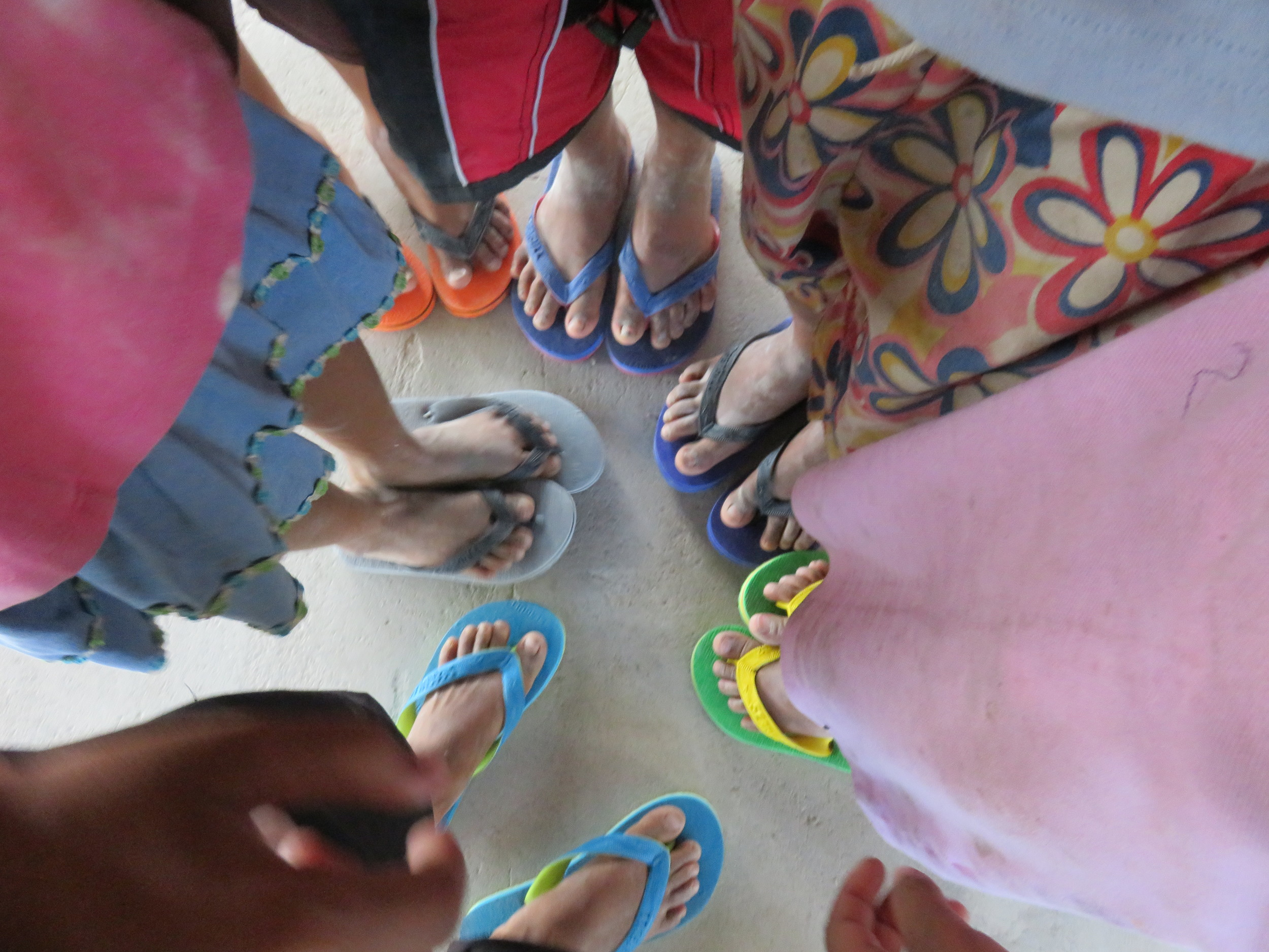 New sandals for Side 4 bakwit children