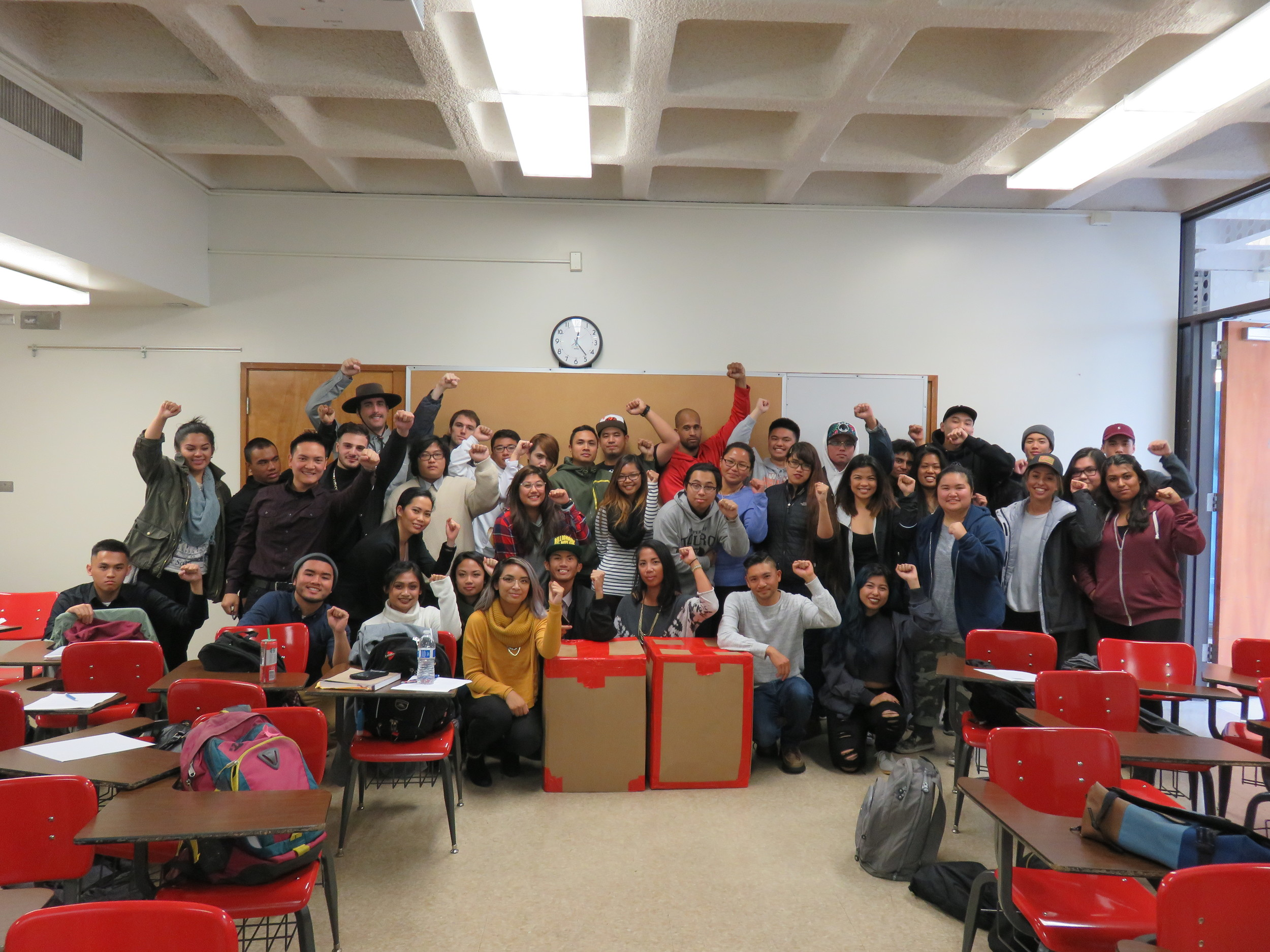 Skyline College - San Bruno, CA students collected 3 boxes of supplies for Salugpongan kids.