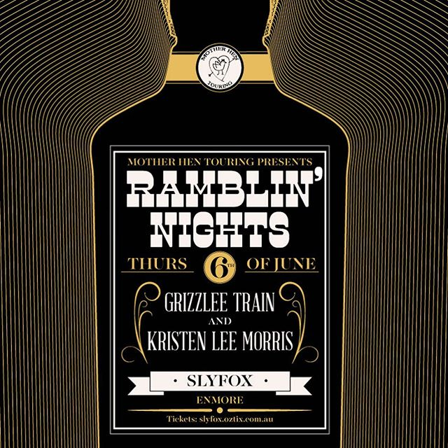 SYDNEY! We're finishing off the SHAKIN' tour at The Slyfox in Enmore next week. Joining us is our blues powerhouse buddy Mr Kristen Lee Morris. This is gonna be one for the ages and not a show to miss - tickets are on sale now! #sydney #shakintour #blues #ramblinnights