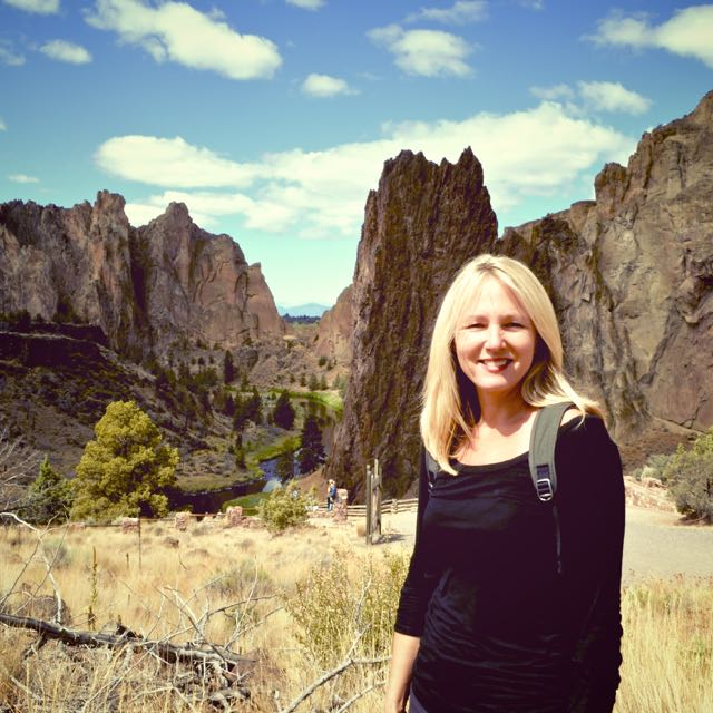 Hiking Smith Rock near Bend, Oregon