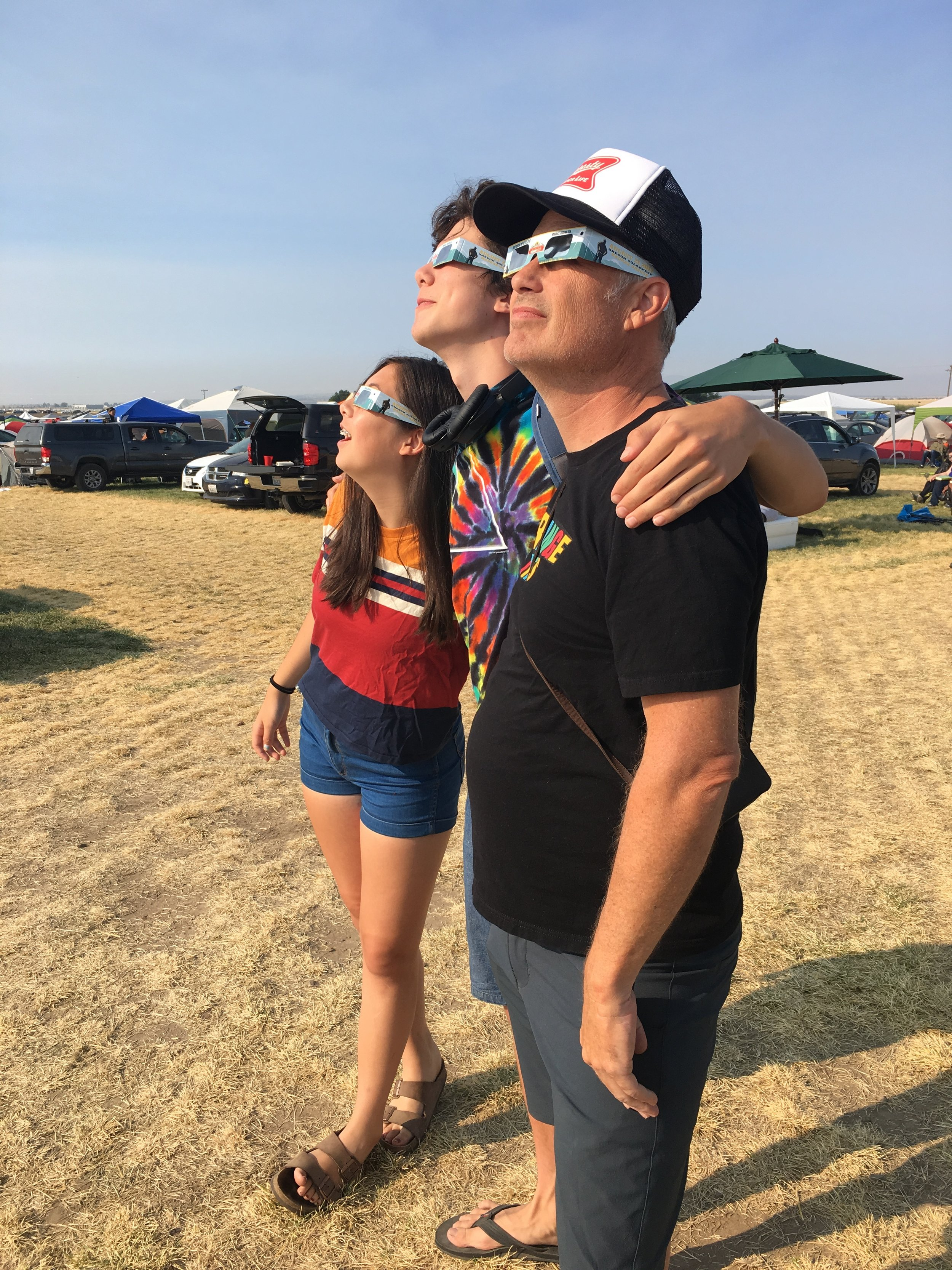 John, Jack and Charley Path of Totality Madras OR 2017