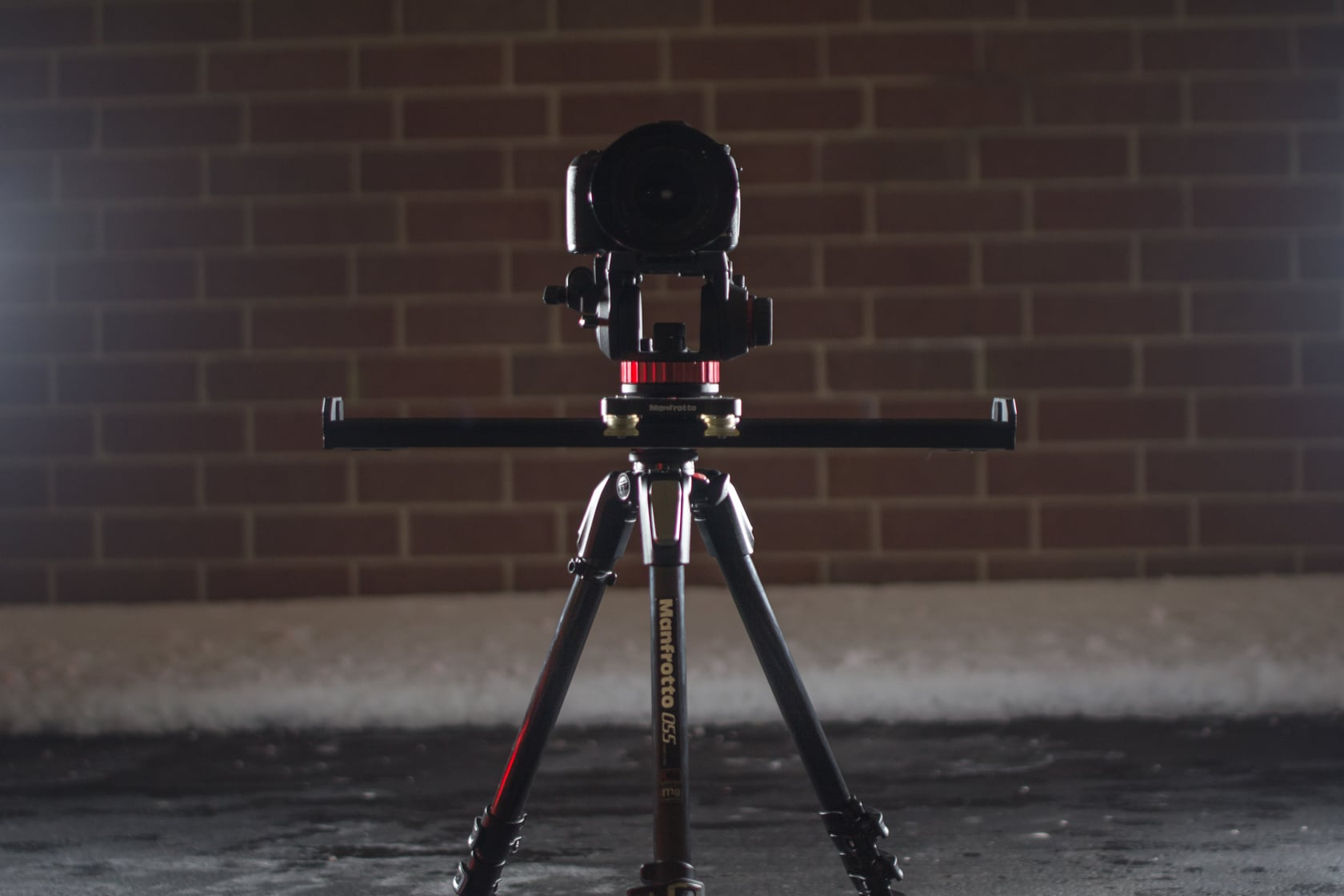 {Pictured: Canon 5dmiii, Manfrotto 502 fluid head, Manfrotto 60cm slider, Manfrotto 055 CF tripod}